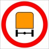 B-13a zakaz wjazdu pojazdów z materiałami niebezpiecznymi