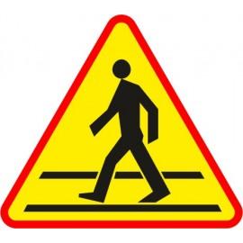 Naklejka znak ostrzegawczy A-16 Przejście dla pieszych