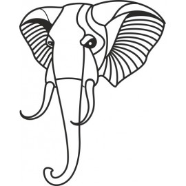 Naklejka wycinana N60 słoń O