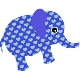 Naklejka ścienna dekoracyjna D35 słoń O