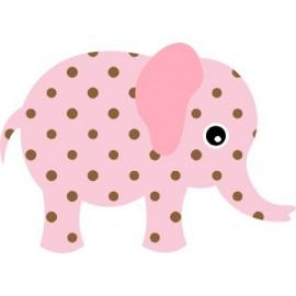 Naklejka ścienna dekoracyjna D36 słoń O