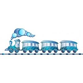 Naklejka ścienna dekoracyjna D55 pociąg O