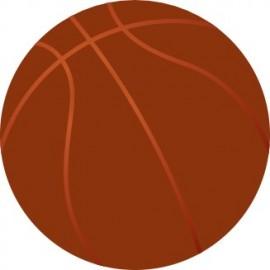 Naklejka ścienna dekoracyjna D67 koszykówka O