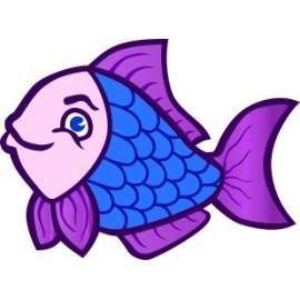 Naklejka ścienna dekoracyjna D80 ryba O
