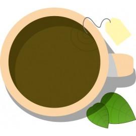 Naklejka ścienna dekoracyjna D128 herbata O