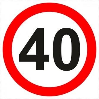 B-33-40 ograniczenie prędkości (tu 40 km)