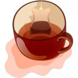 Naklejka ścienna dekoracyjna D131 herbata O