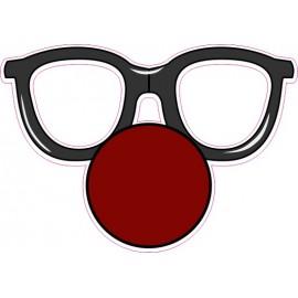 Naklejka ścienna dekoracyjna D134 okulary O