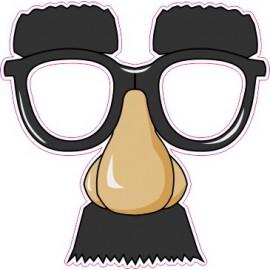 Naklejka ścienna dekoracyjna D135 okulary O