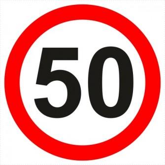 B-33-50 ograniczenie prędkości (tu 50 km)