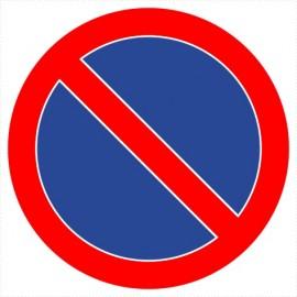 Znak drogowy B-35 zakaz postoju