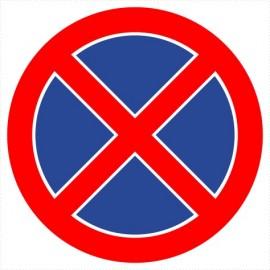 B-36 zakaz zatrzymywania się i postoju, zakaz parkowania