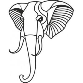 Naklejka ścienna, na ścianę, dekoracyjna N60 słoń O