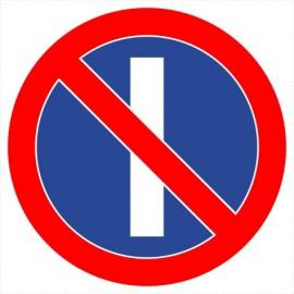 Znak drogowy B-37 zakaz postoju w dni nieparzyste