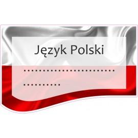 Naklejka na zeszyt SZ02 Język Polski