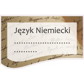 Naklejka na zeszyt SZ07 Język Niemiecki
