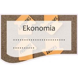 Naklejka na zeszyt SZ19 Ekonomia
