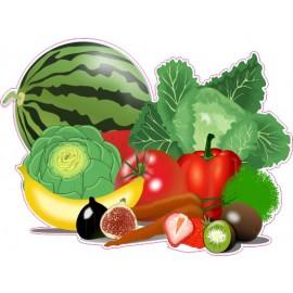 Naklejka ścienna dekoracyjna D189 owoce i warzywa