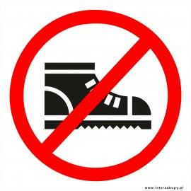 naklejka INZ10 - zakaz wchodzenia w butach