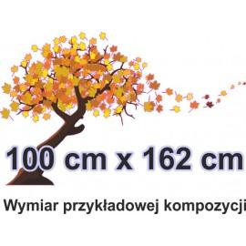 Naklejka ścienna - kolorowe drzewo SD01 drzewo