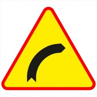 A-1 Niebezpieczny zakręt w prawo