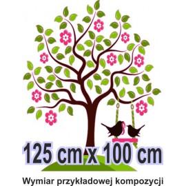 Naklejka ścienna - kolorowe drzewo SD02 drzewo