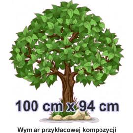 Naklejka ścienna - kolorowe drzewo SD03 drzewo lato