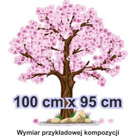 Naklejka ścienna - kolorowe drzewo SD05 drzewo wiosna