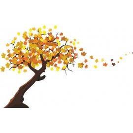 Naklejka ścienna - kolorowe drzewo SD01a drzewo