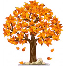 Naklejka ścienna - kolorowe drzewo SD04a drzewo jesień