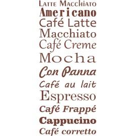 Naklejka dekoracyjna SF07 kawa