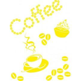 Naklejka dekoracyjna SF08 kawa