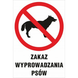 zakaz Z05 zakaz wyprowadzania psów