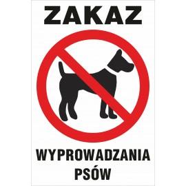 zakaz Z06 zakaz wyprowadzania psów