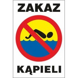 Naklejka zakaz kąpieli ZK01