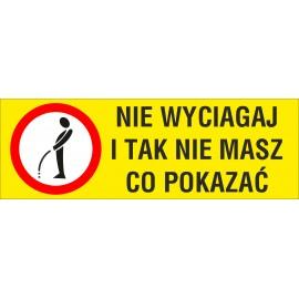 Naklejka Zakaz sikania NZS05