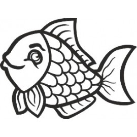 Naklejka ścienna, na ścianę, dekoracyjna N90 ryba O