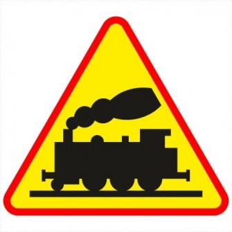 A-10 przejazd kolejowy niestrzeżony, bez rogatek