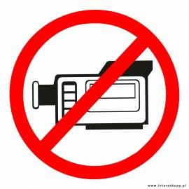 naklejka INZ04 - zakaz filmowania, nagrywania