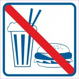 naklejka INL09 - zakaz wchodzenia z jedzeniem