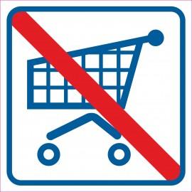 naklejka INZW3- zakaz wchodzenia z wózkami