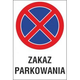 Naklejka zakaz zatrzymywania i postoju ZZP12 zakaz parkowania