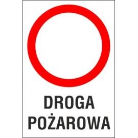 Naklejka zakaz ruchu ZR05 DROGA POŻAROWA