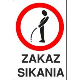 Naklejka zakaz sikania ZS01