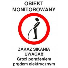 Naklejka zakaz sikania ZS02 obiekt monitorowany