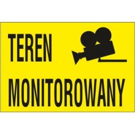 Naklejka teren monitorowany TM02