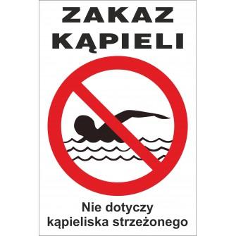 zakaz kąpieli ZK07