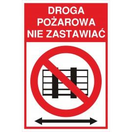 tabliczka Droga Pożarowa ZB03