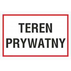 Naklejka teren prywatny TP07