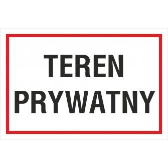 tabliczka teren prywatny TP07